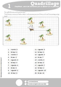 Carte Au Tresor Geometrie.Deplacements Sur Un Quadrillage Ce1 Charivari A L Ecole