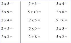 Entraînement aux tables de multiplication