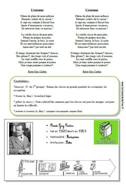 Poésies Dautomne Cm1