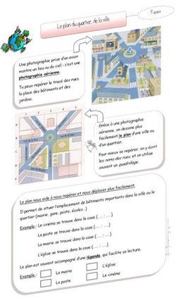 Le plan d'un quartier, d'une ville