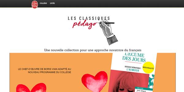 site Classiques pedago